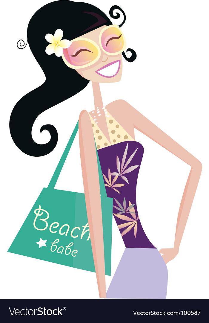 Hot beach chic vector image