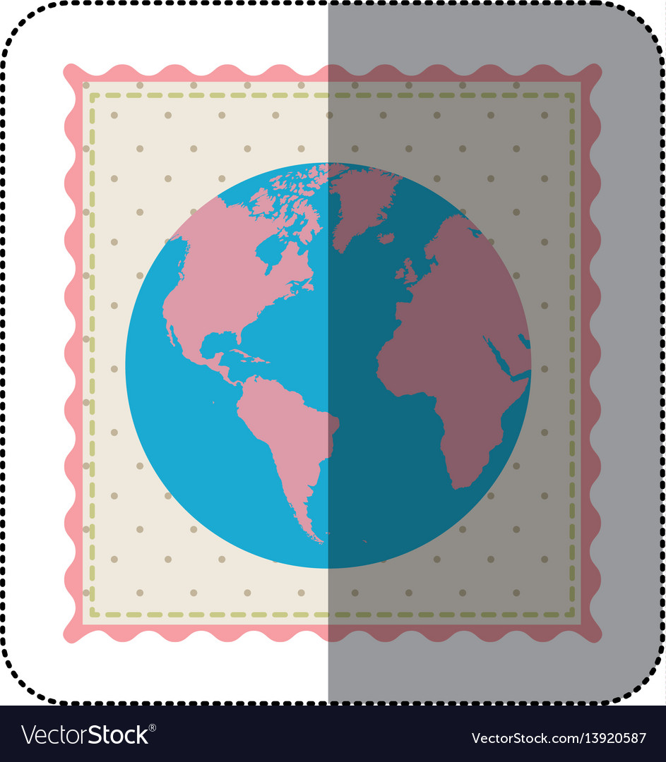 Sticker frame with silhouette of world map with vector image sticker frame with silhouette of world map with vector image gumiabroncs Images