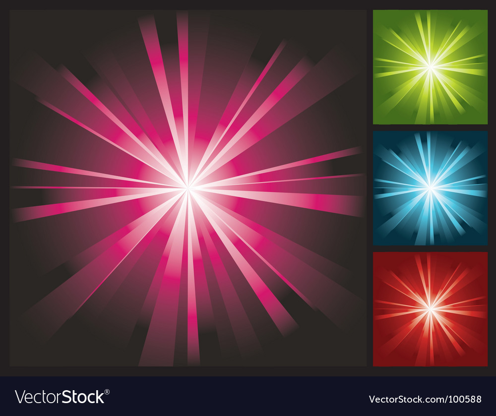 Abstract lights background with sunburst vector image