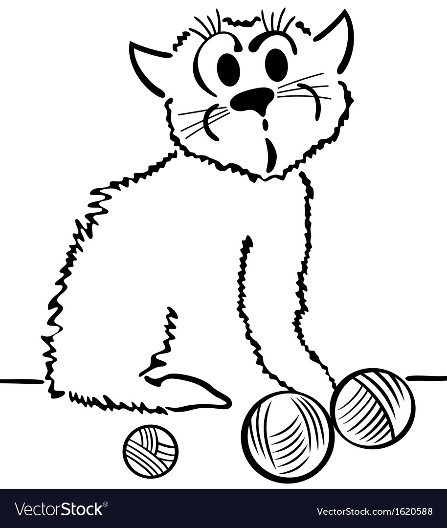 Domestic cat vector image