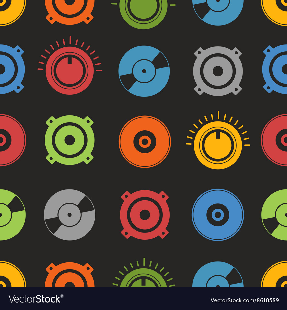 Audio equipment seamless background vector image