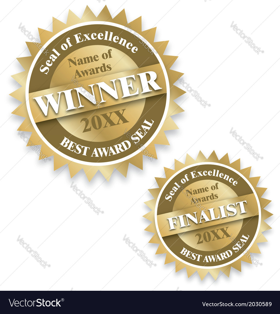 Winner and finalist award seals vector image
