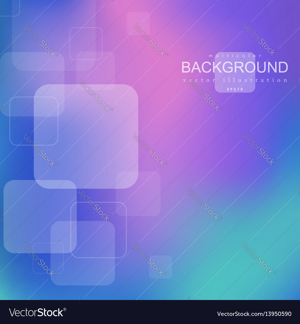 Bright geometric abstract background with square s vector image