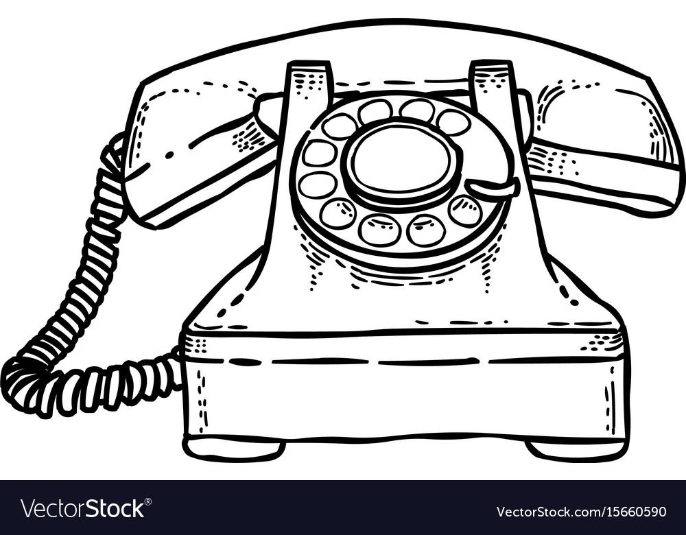 Cartoon image of phone icon telephone symbol vector image