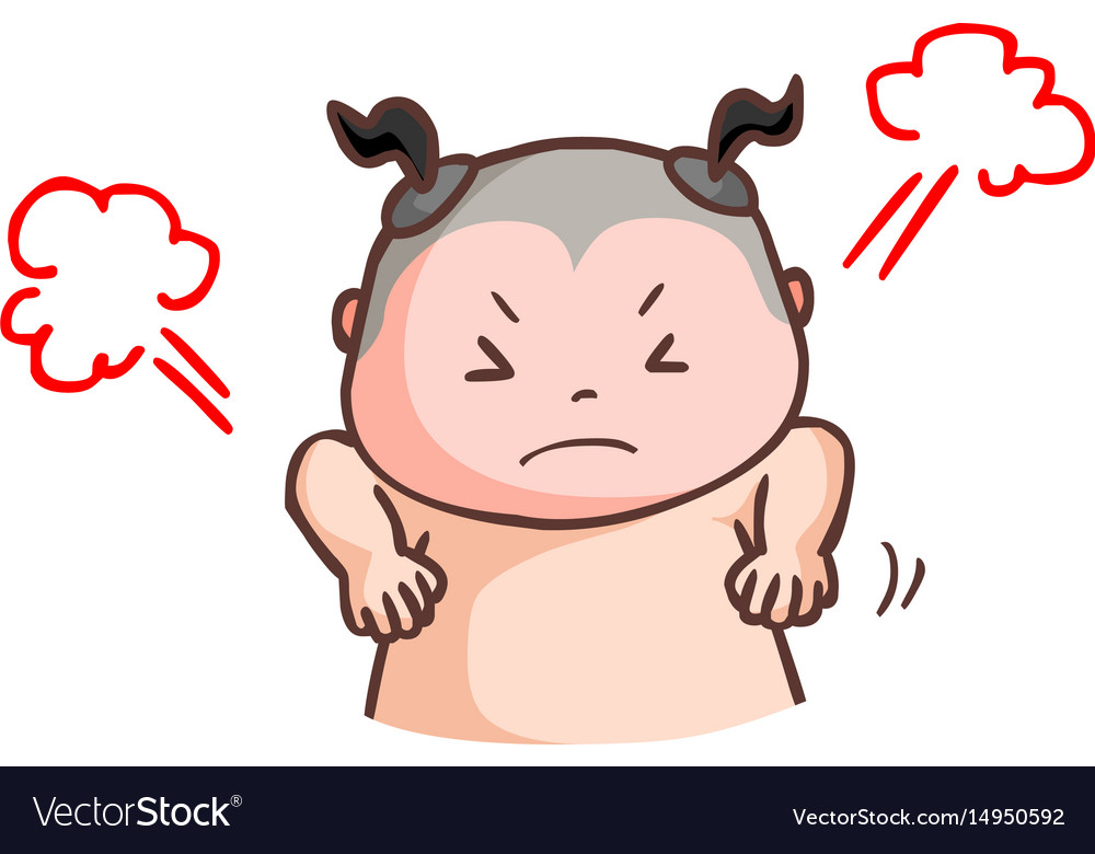 Thai boy angry very much vector image