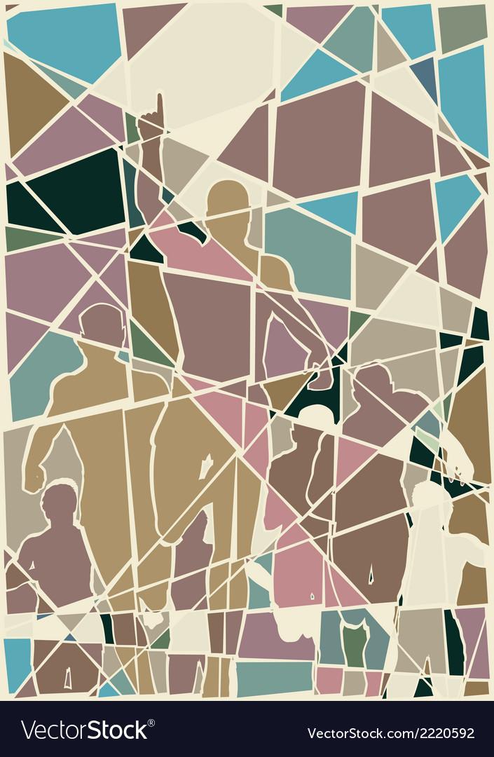 Winning mosaic vector image