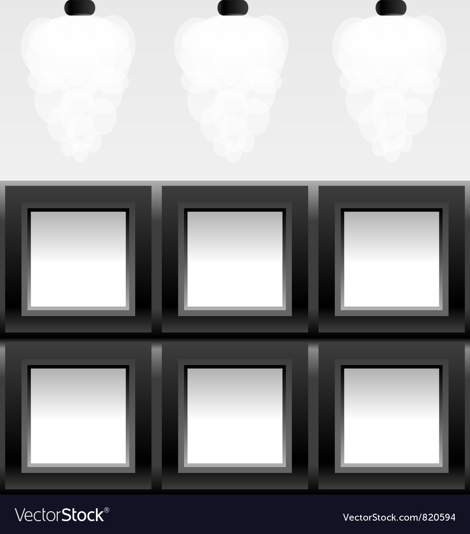 Empty six frames vector image