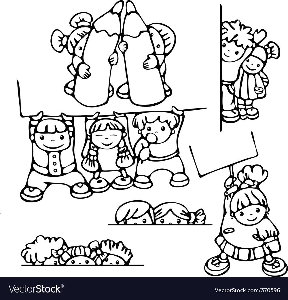 Fun kids for school design vector image