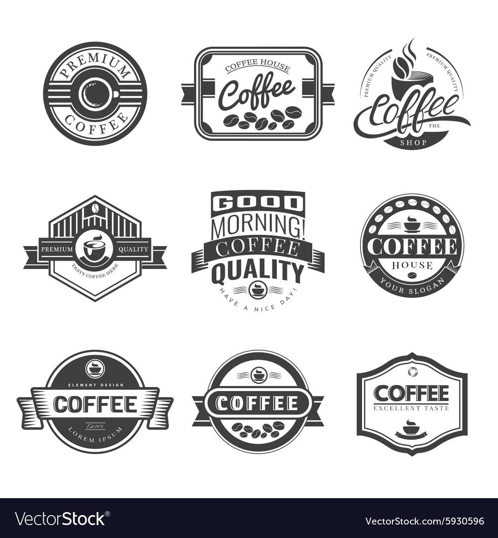 coffee vintage logo royalty free vector image vectorstock