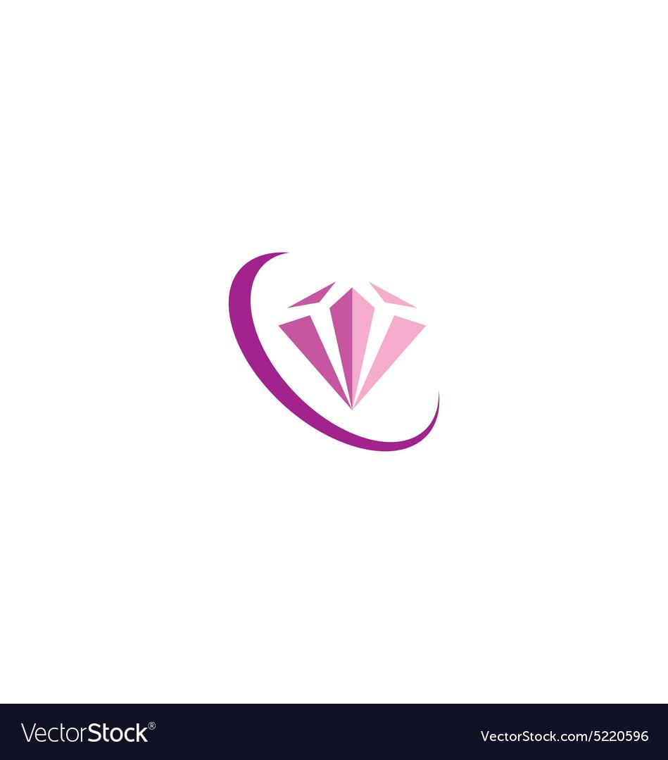 Diamond Jewelry Fashion Beauty Logo Royalty Free Vector