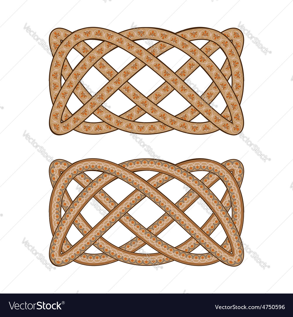 Intertwined with the Roman ornament pattern vector image