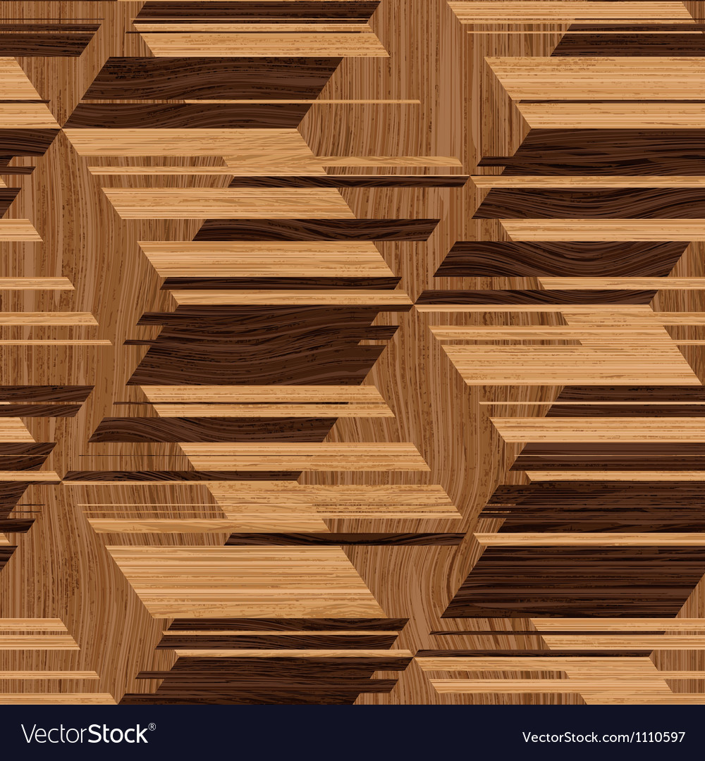 Wooden mosaic Vector Image