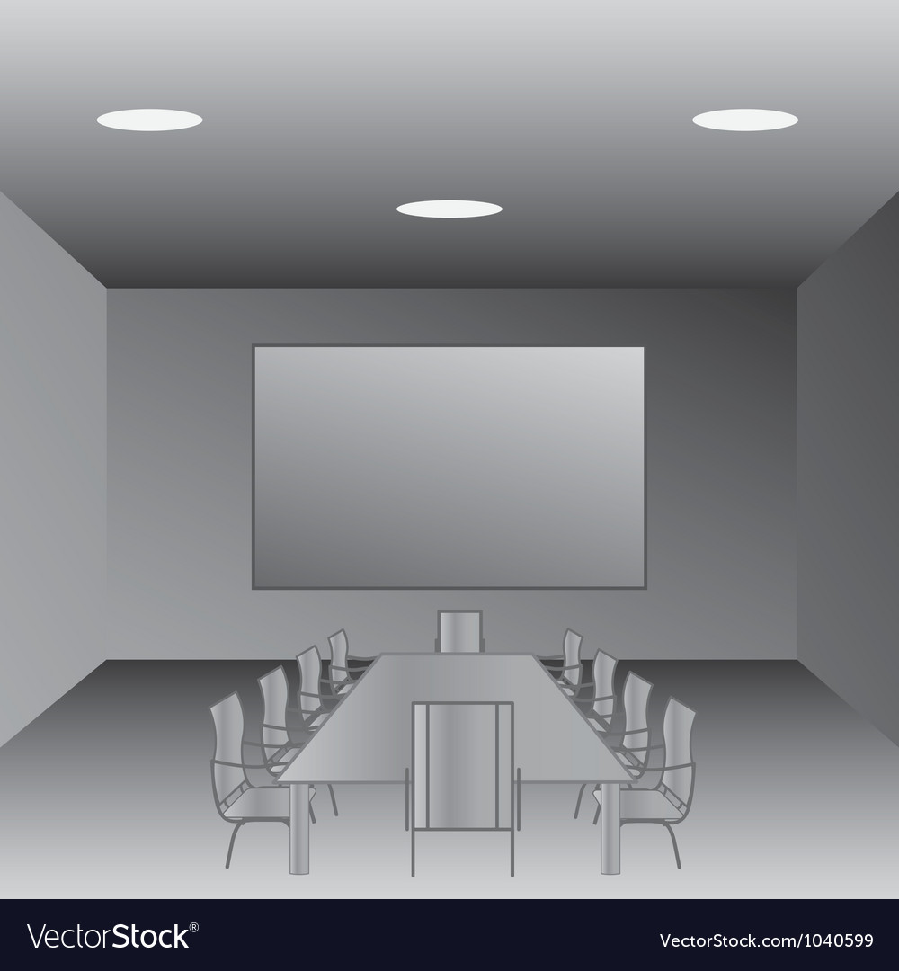 Conference room vector image