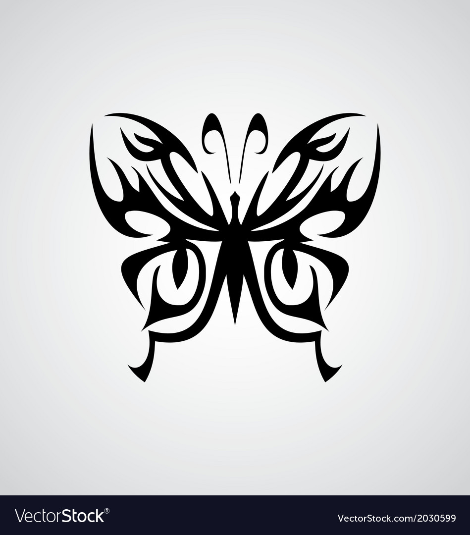 Tribal Butterfly Royalty Free Vector Image - VectorStock