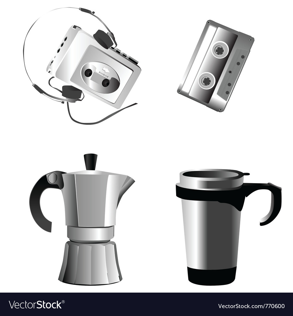 Music and coffee vector image