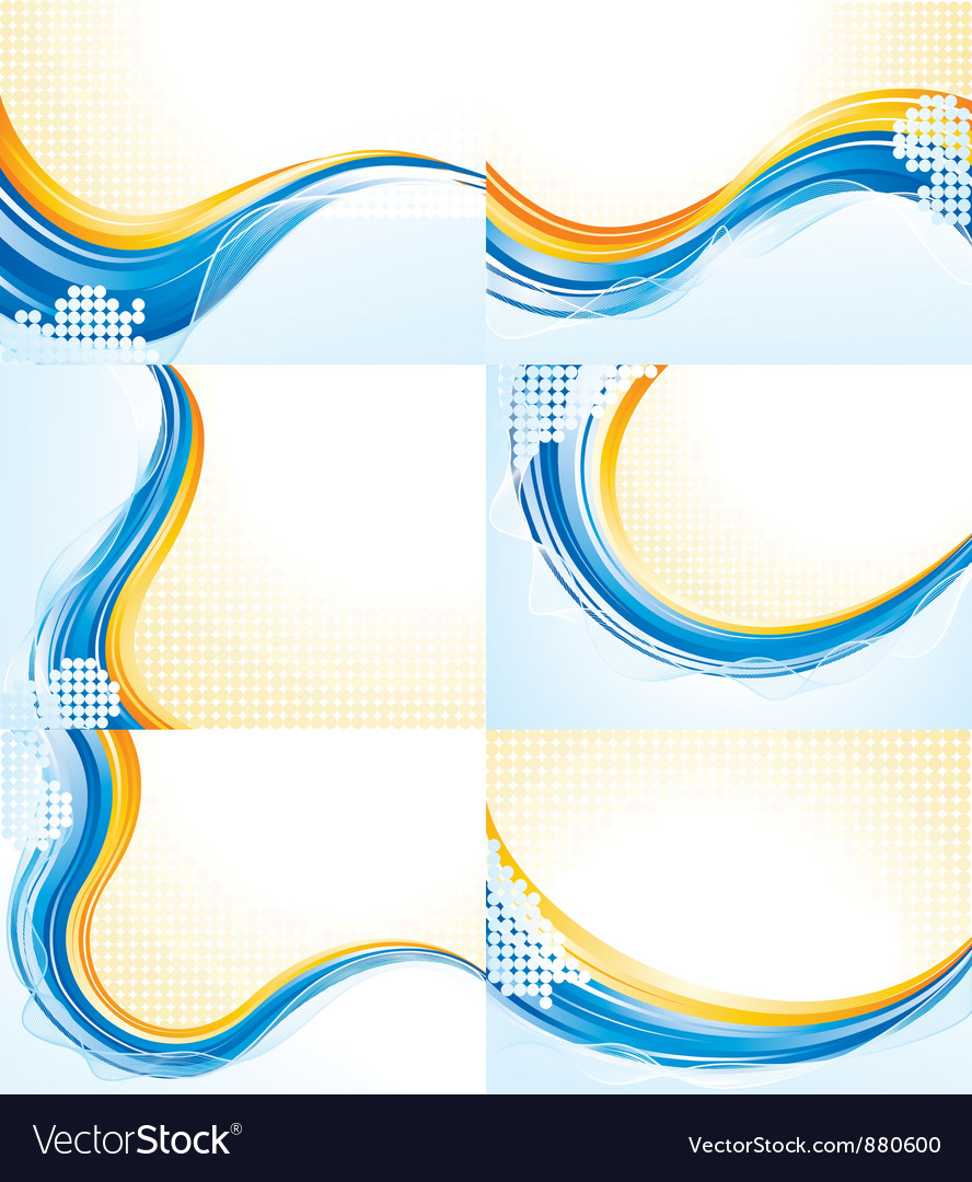 Wave patterns vector image