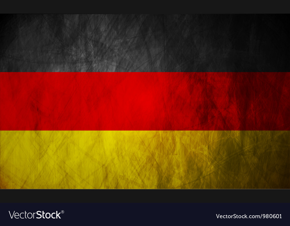 Grunge German flag vector image