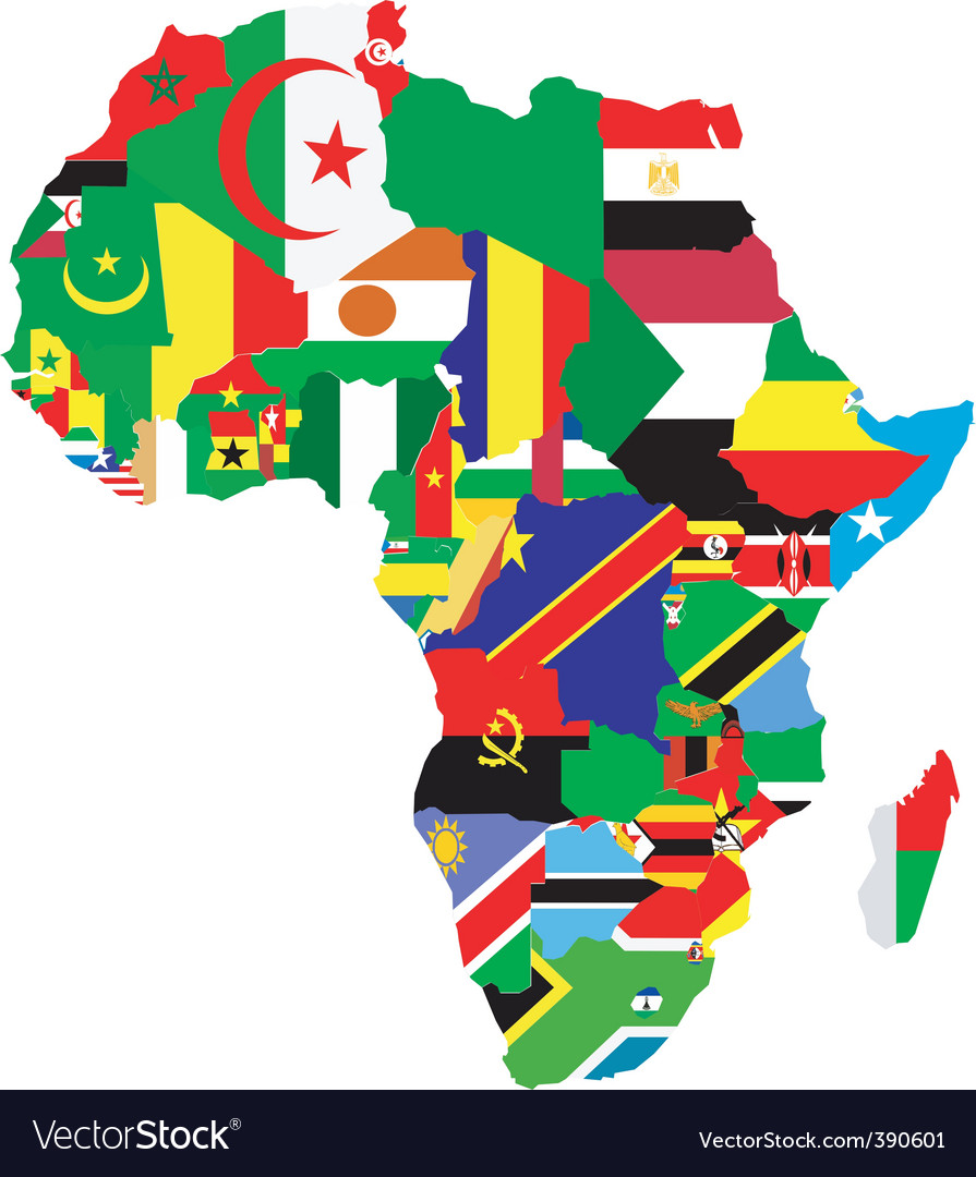 Map Of Africa Royalty Free Vector Image VectorStock - Africa map