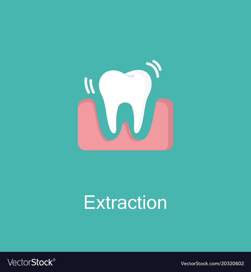 Tooth extraction flat icon vector image