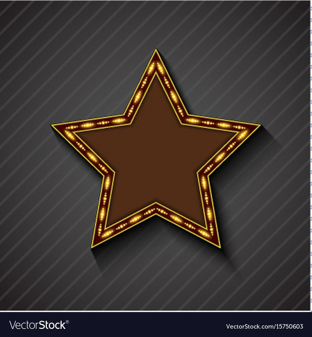 Billboard star sign on the on black background vector image