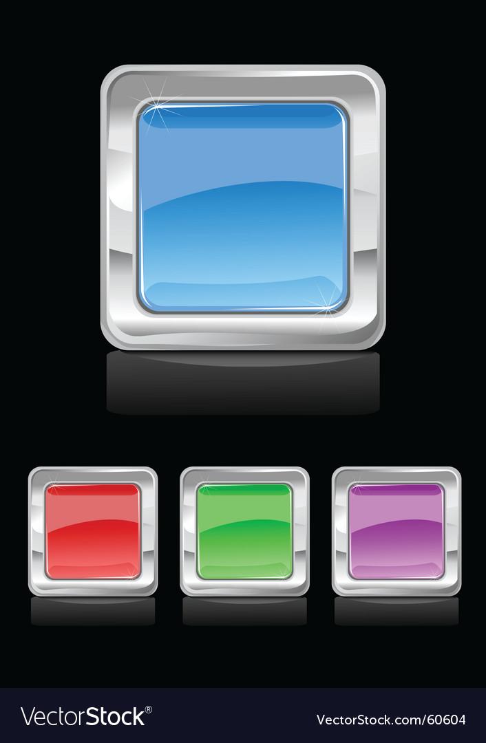 Square button vector image