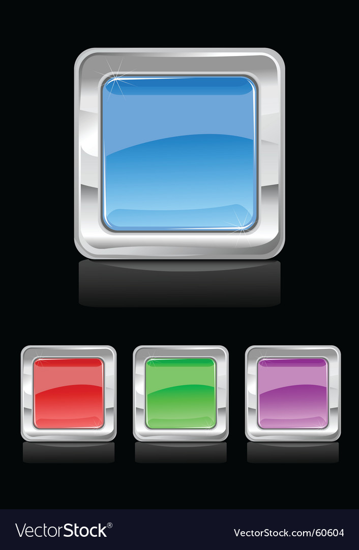 Square button vector image