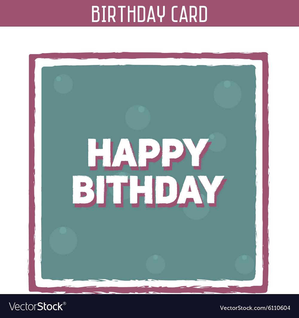 Vintage birthday card vector image