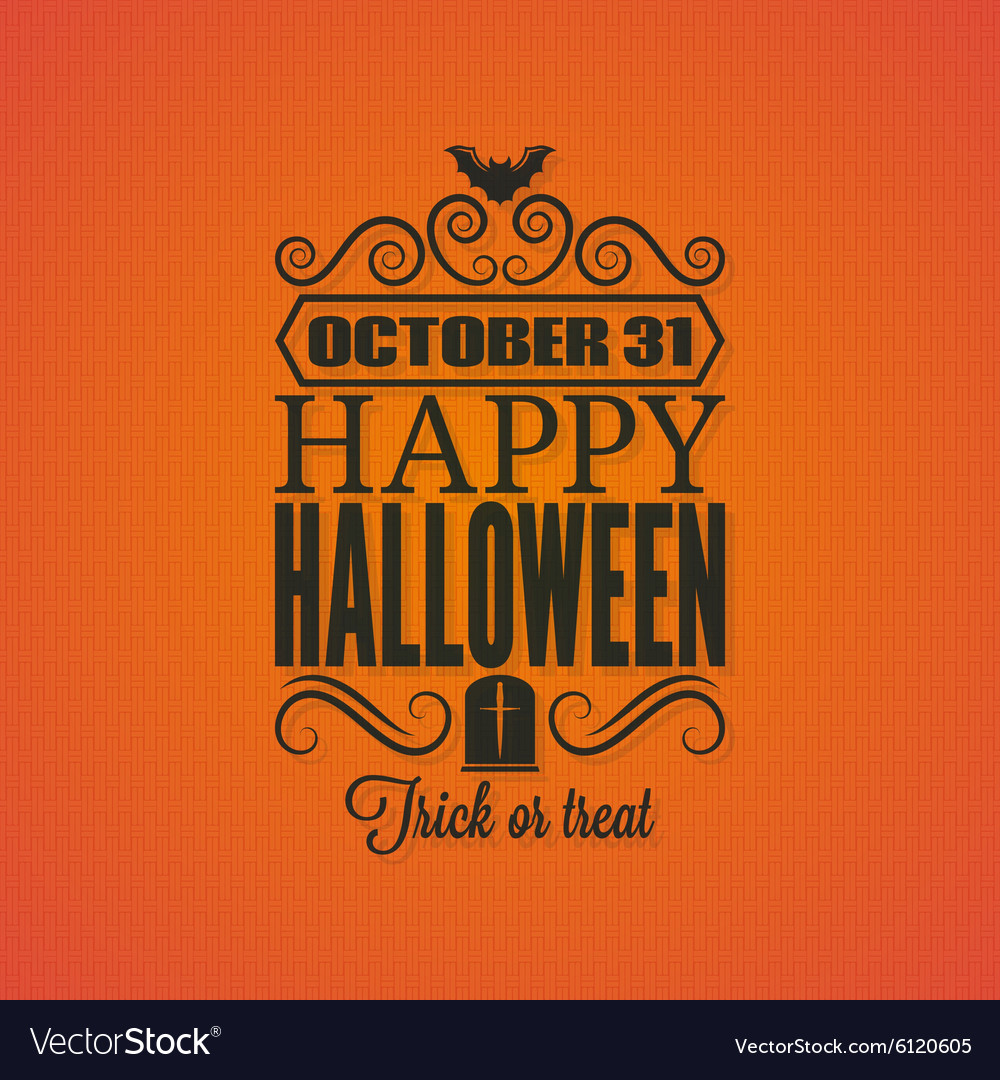 Halloween party invitation card background Vector Image