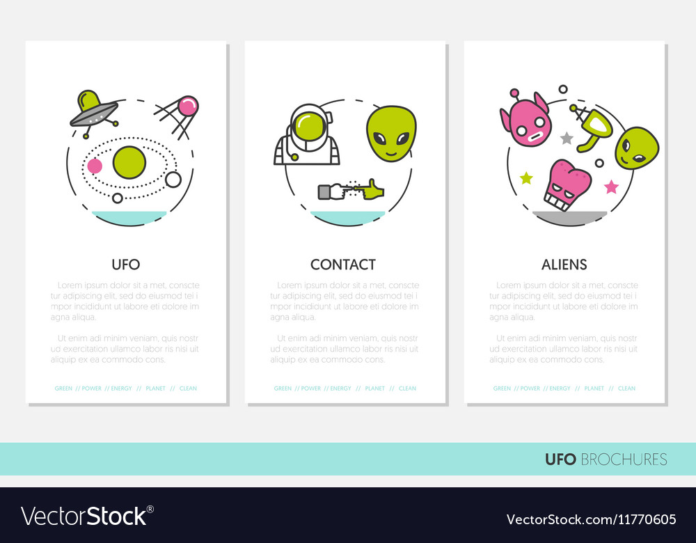 Ufo And Space Business Brochures Template Vector Image
