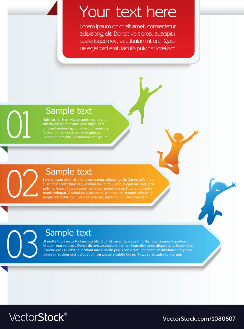 Colorful design template with arrows vector image