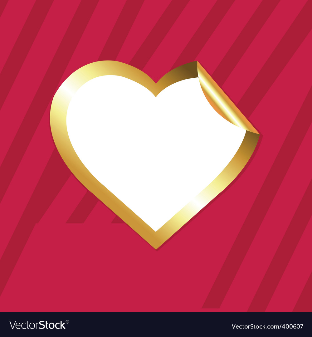 Heart sticker vector image