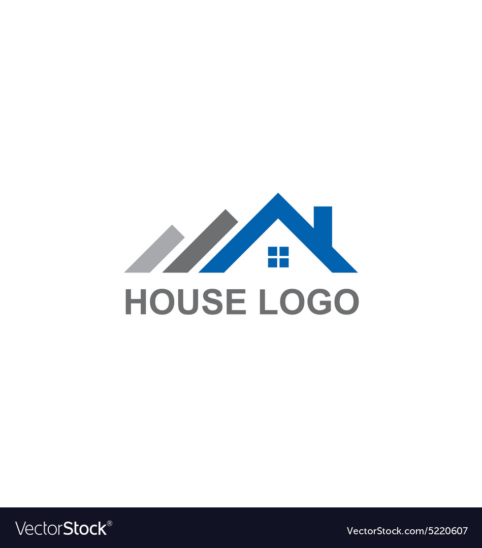 House roof construction abstract logo royalty free vector for House logo design free