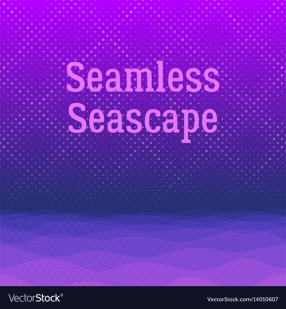 Night sea seamless background vector image