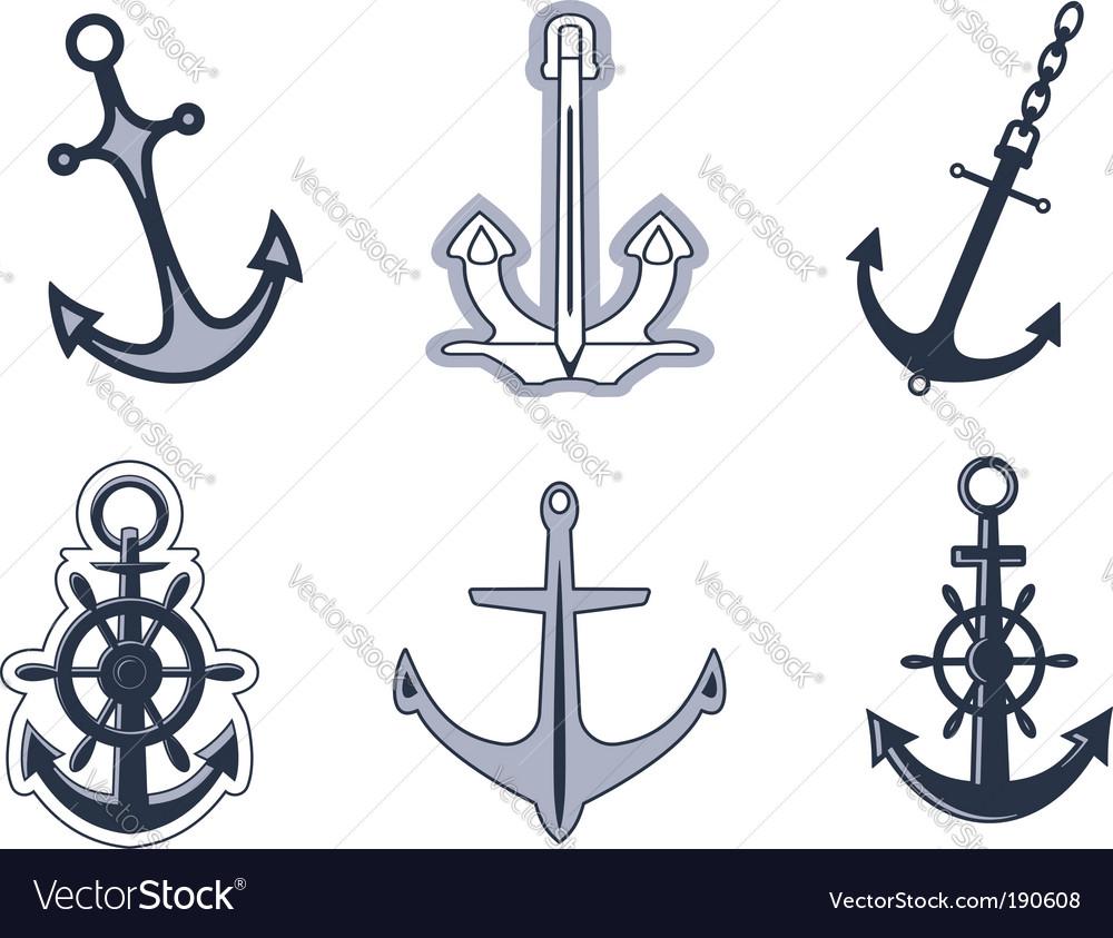 Set of anchor symbols vector image