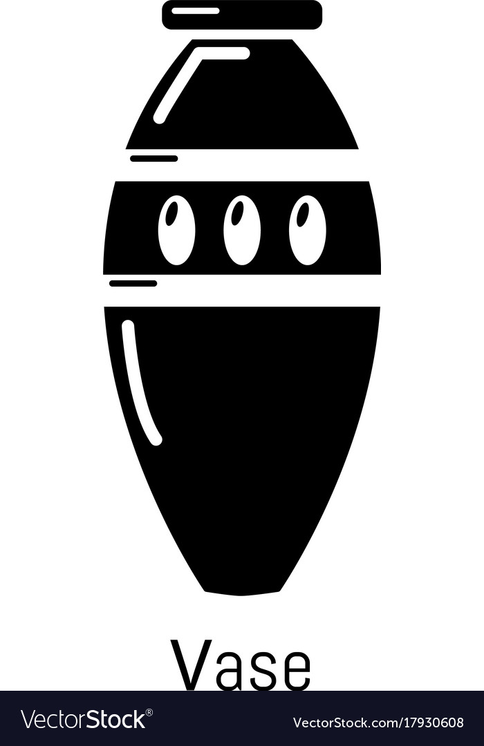 Vase icon simple black style vector image