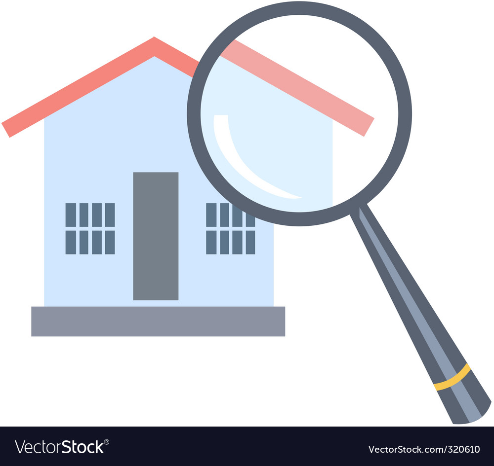 Investigate property Vector Image