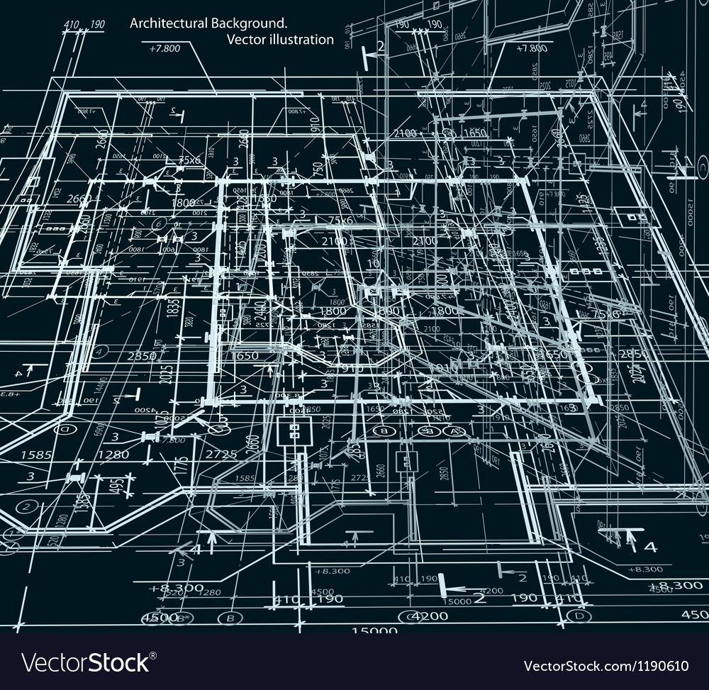 Blueprint abstract dark background royalty free vector image blueprint abstract dark background vector image malvernweather Gallery