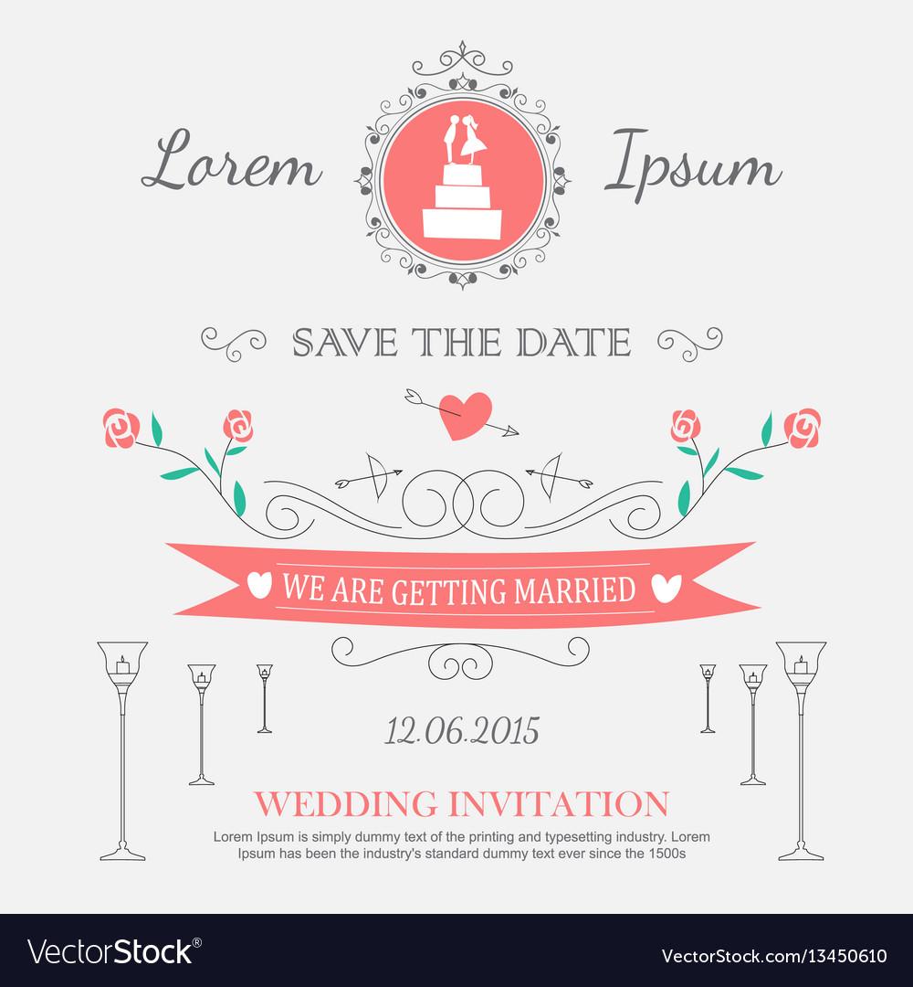 Wedding set ornaments and decorative elements vector image wedding set ornaments and decorative elements vector image junglespirit Image collections
