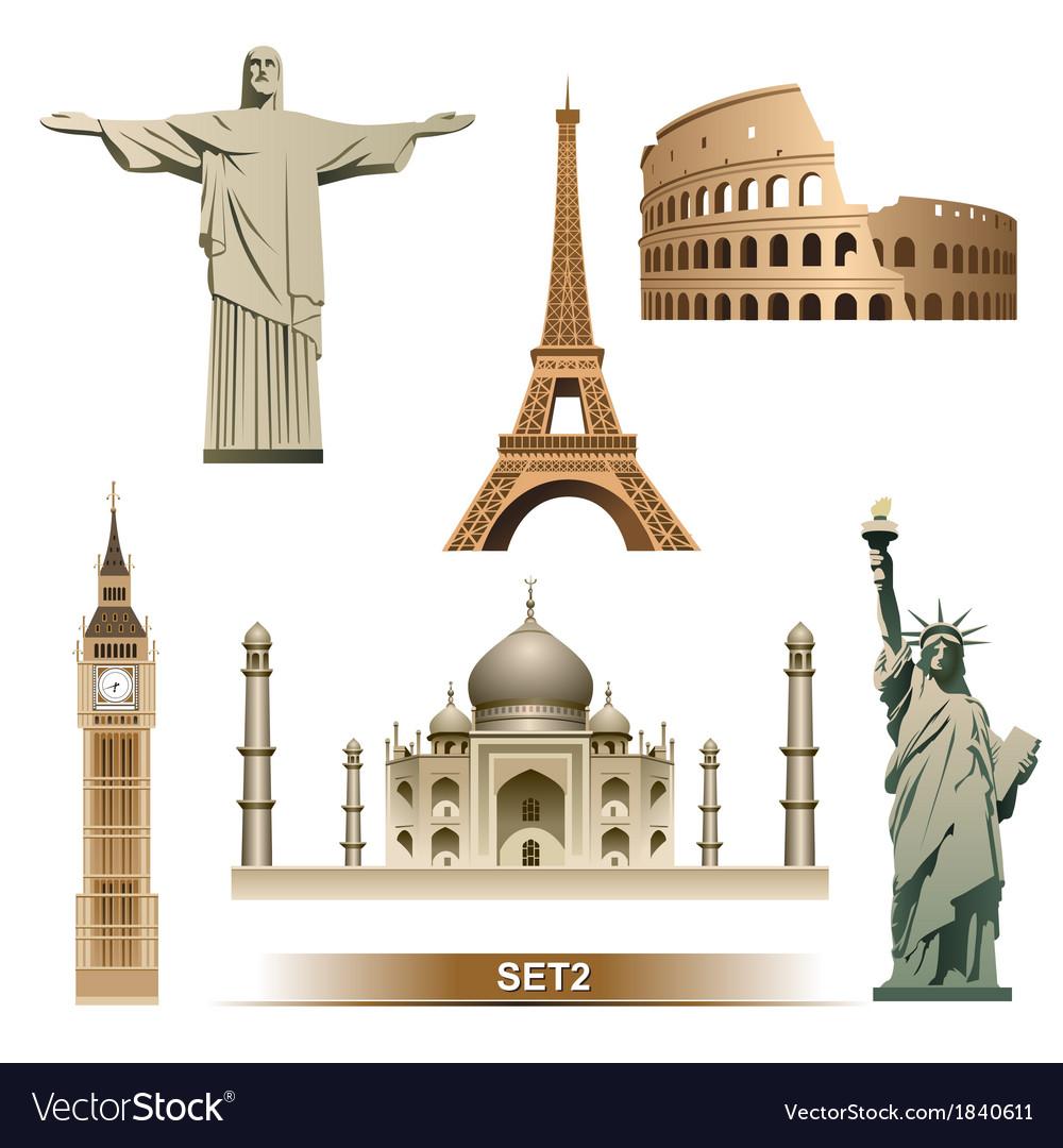 World Landmark vector image