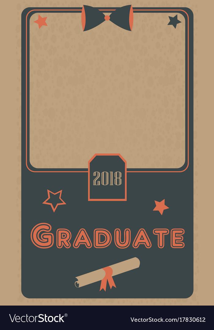 Graduation 2018 photo frame graduation ceremony vector image