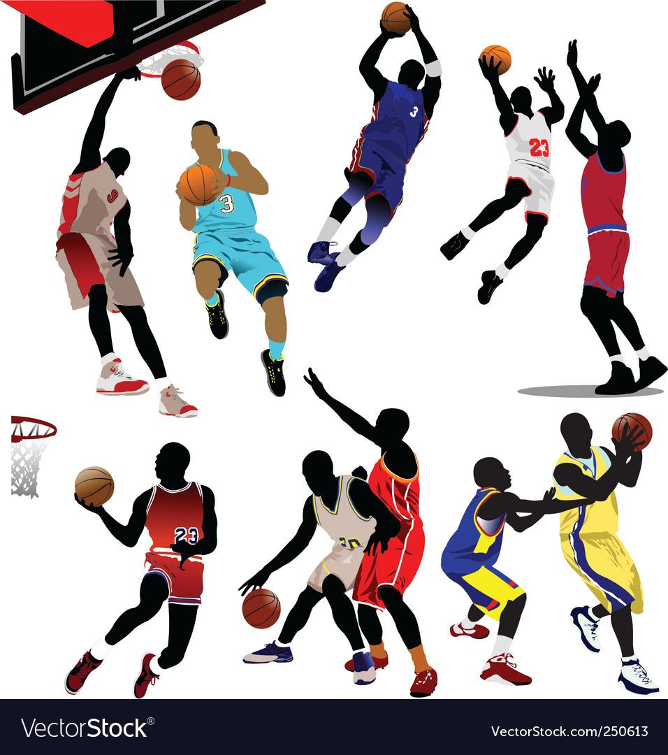 Basketball players vector image