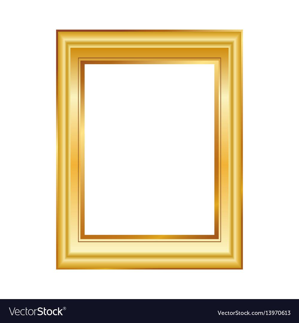 Golden frame isolated on white background classic vector image jeuxipadfo Gallery