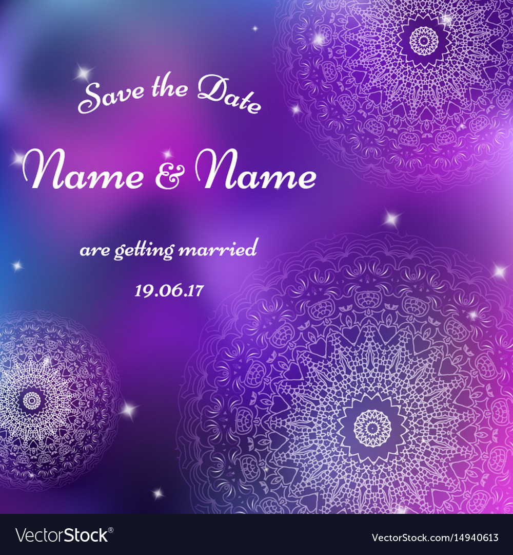 Wedding invitation template with individual vector image