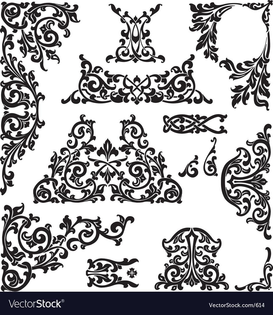 Classic ornaments vector image