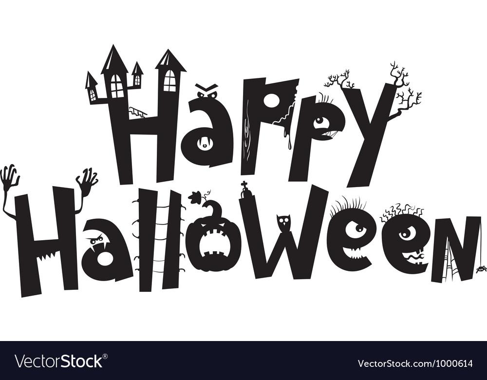 Happy Halloween Royalty Free Vector Image - VectorStock