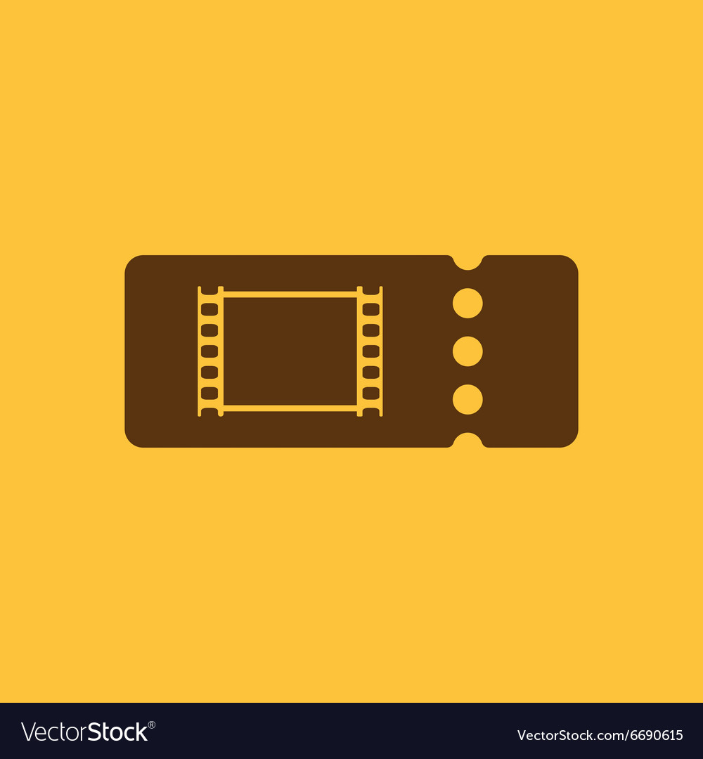 The blank cinema ticket icon vector image