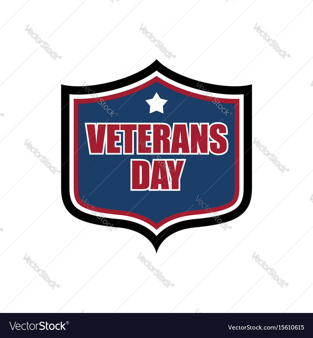 Veterans day shield emblem us military holidayl vector image
