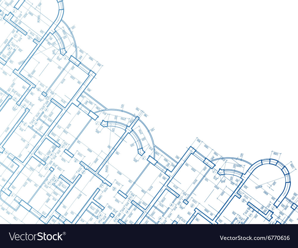 Building background Plan of the house vector image