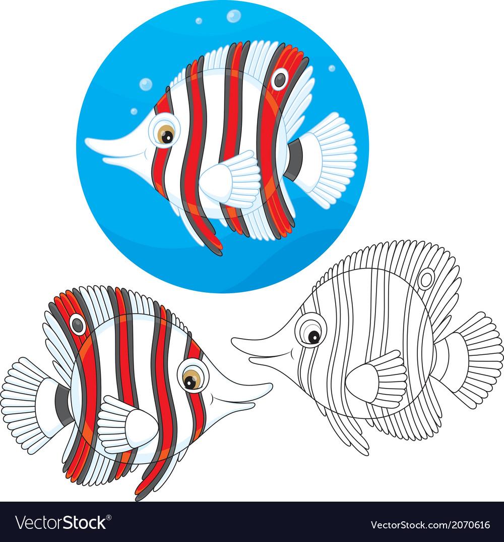 Coral fish vector image