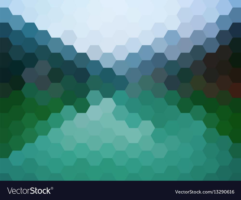 Defocused mountains landscape background vector image